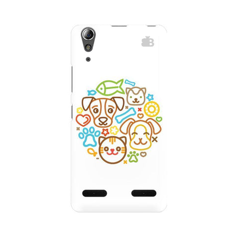 Cute Pets Lenovo A6000 Phone Cover