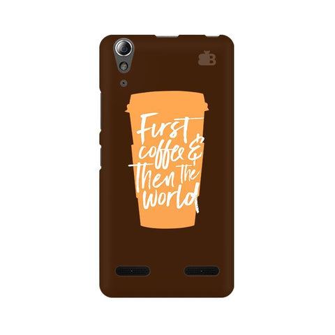 First Coffee Lenovo A6000 Phone Cover