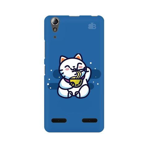KItty eating Noodles Lenovo A6000 Phone Cover