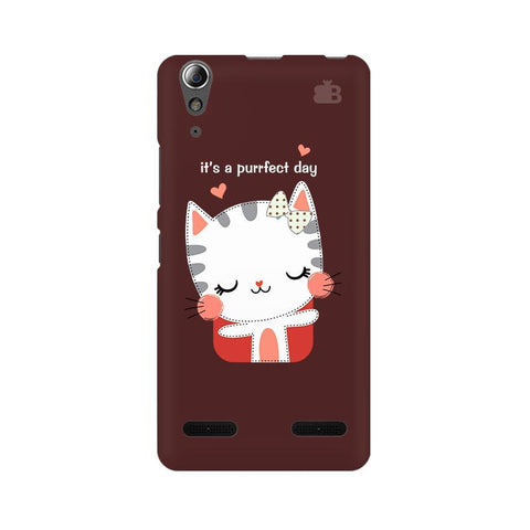 Purrfect Day Lenovo A6000 Phone Cover