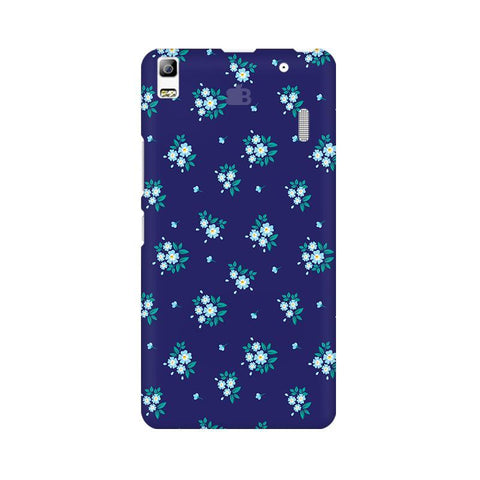 Blue Floral Pattern Lenovo A7000 Phone Cover