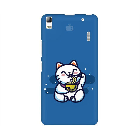 KItty eating Noodles Lenovo A7000 Phone Cover
