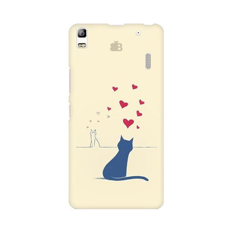 Kitty in Love Lenovo A7000 Phone Cover