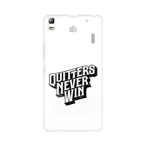 Quitters Never Win Lenovo A7000 Phone Cover