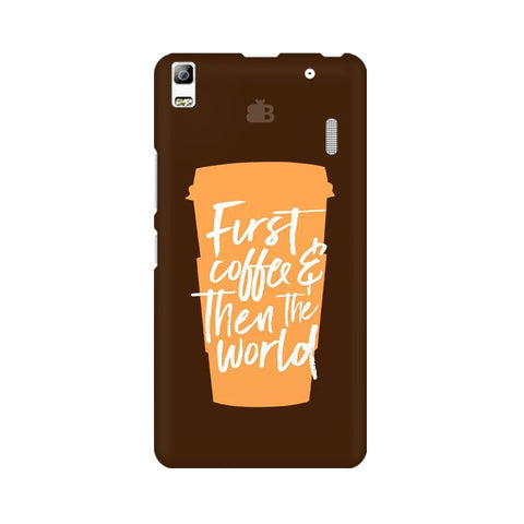 First Coffee Lenovo K3 Note Phone Cover