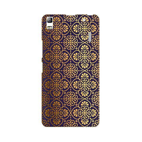 Gold Ornament Lenovo K3 Note Phone Cover