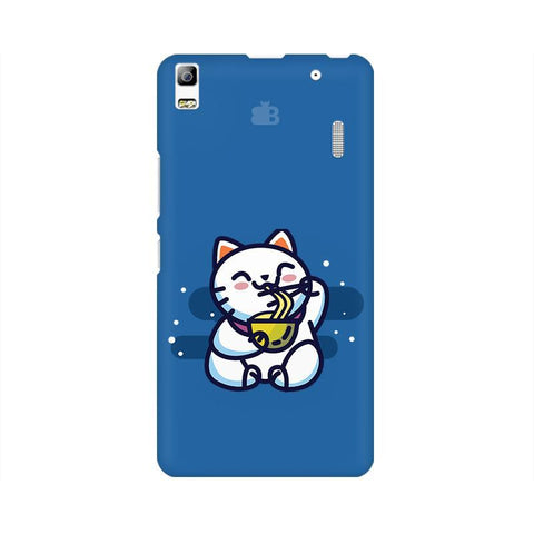 KItty eating Noodles Lenovo K3 Note Phone Cover
