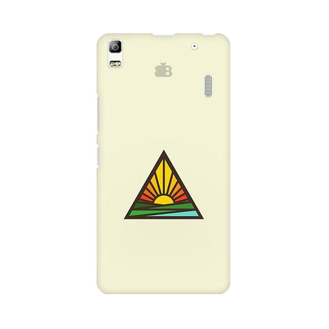Triangular Sun Lenovo K3 Note Phone Cover
