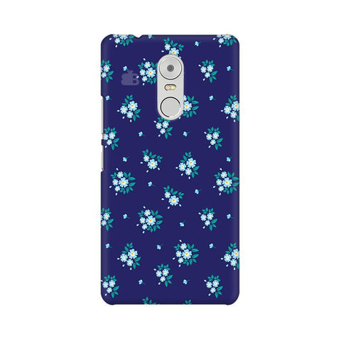 Blue Floral Pattern Lenovo K6 Note Phone Cover