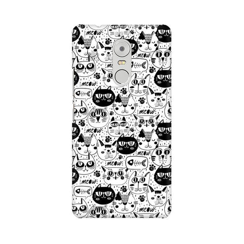 Cute Cats Pattern Lenovo K6 Note Phone Cover