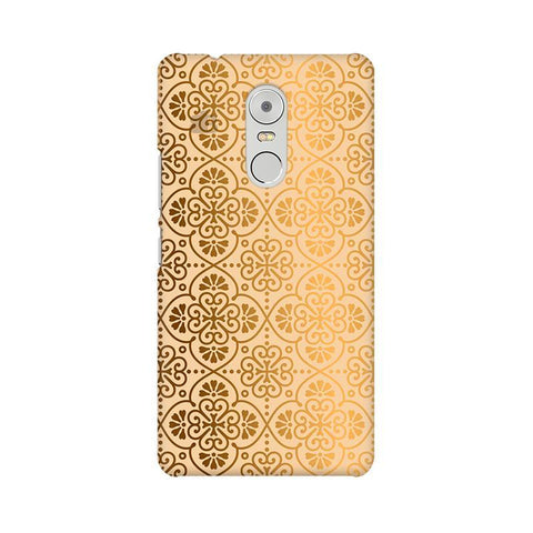 Ethnic Gold Ornament Lenovo K6 Note Phone Cover