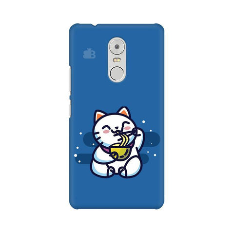 KItty eating Noodles Lenovo K6 Note Phone Cover