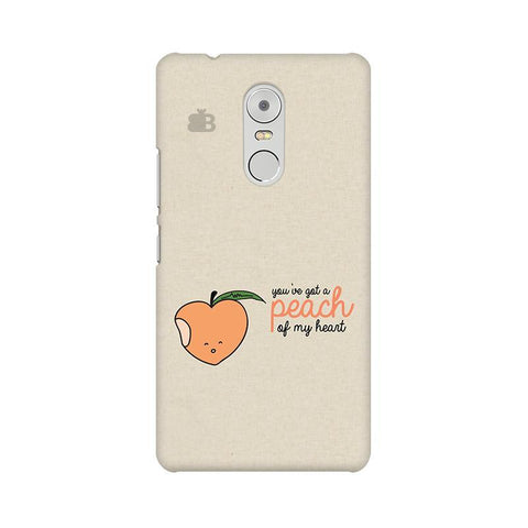 Peach of my heart Lenovo K6 Note Phone Cover