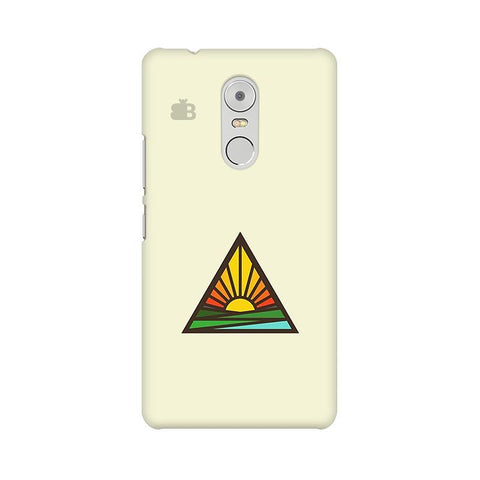 Triangular Sun Lenovo K6 Note Phone Cover