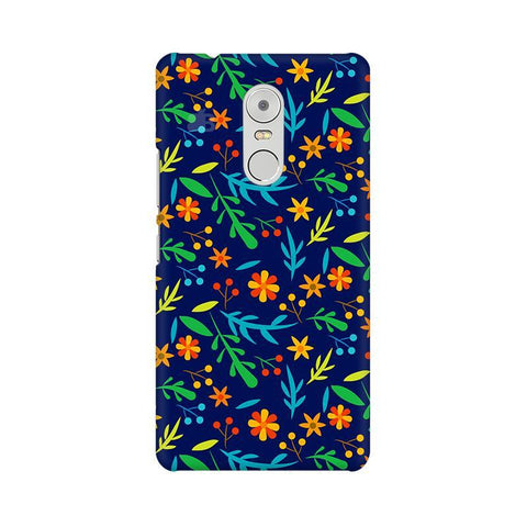 Vibrant Floral Pattern Lenovo K6 Note Phone Cover