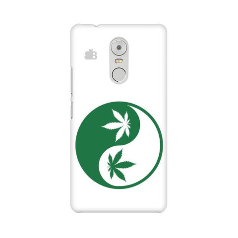 Weed Yin Yang Lenovo K6 Note Phone Cover