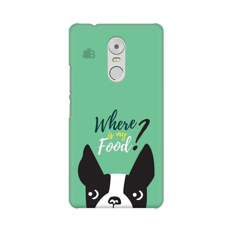 Where is my Food Lenovo K6 Note Phone Cover