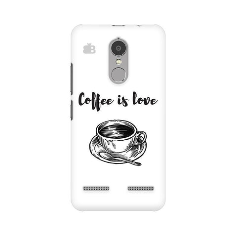 Coffee is Love Lenovo K6 Power Phone Cover