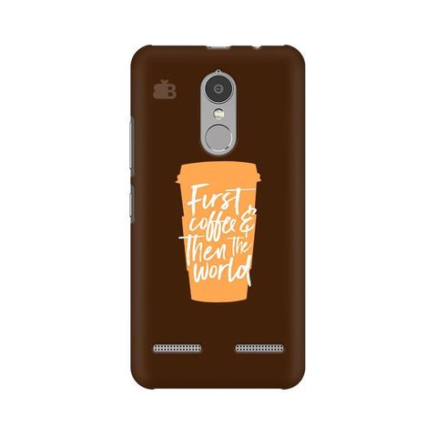 First Coffee Lenovo K6 Power Phone Cover