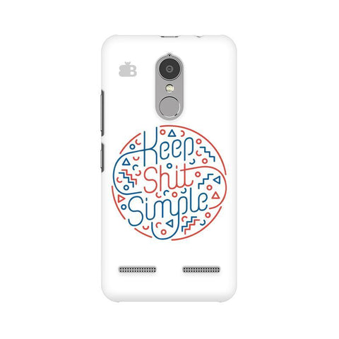 Keep Shit Simple Lenovo K6 Power Phone Cover