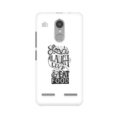 Live Laugh & Eat Food Lenovo K6 Power Phone Cover