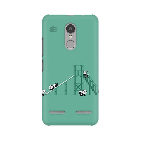 Pandas Playing Lenovo K6 Power Phone Cover