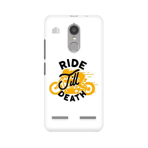Ride Till Death Lenovo K6 Power Phone Cover