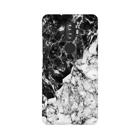 Black White Marble Lenovo K8 Plus Phone Cover