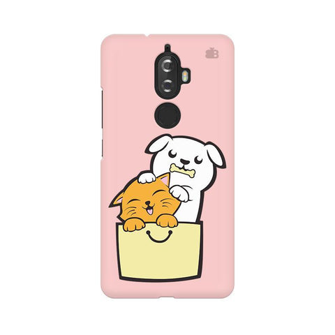 Kitty Puppy Buddies Lenovo K8 Plus Phone Cover