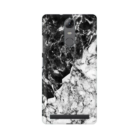 Black White Marble Lenovo Vibe K5 Note Phone Cover