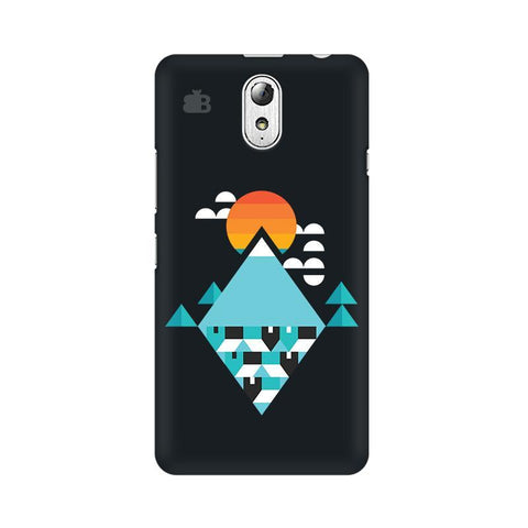 Abstract Mountains Lenovo Vibe P1M Phone Cover