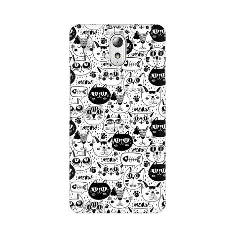 Cute Cats Pattern Lenovo Vibe P1M Phone Cover