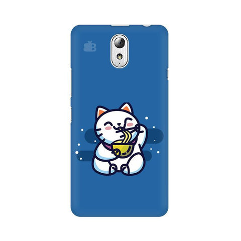 KItty eating Noodles Lenovo Vibe P1M Phone Cover