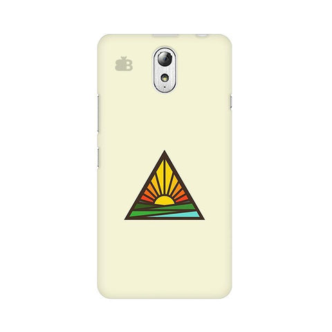 Triangular Sun Lenovo Vibe P1M Phone Cover