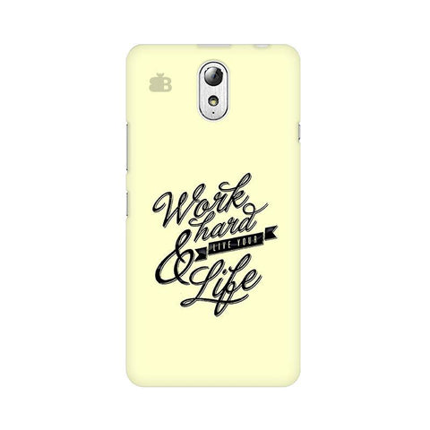 Work Hard Lenovo Vibe P1M Phone Cover