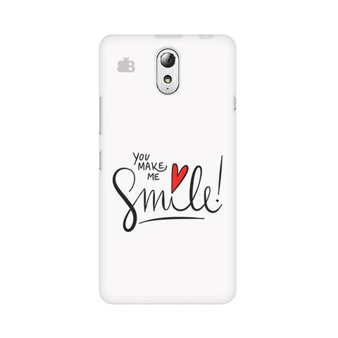 You make me Smile Lenovo Vibe P1M Phone Cover