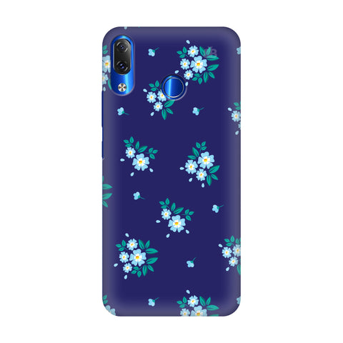 Blue Floral Pattern Lenovo Z5 Cover