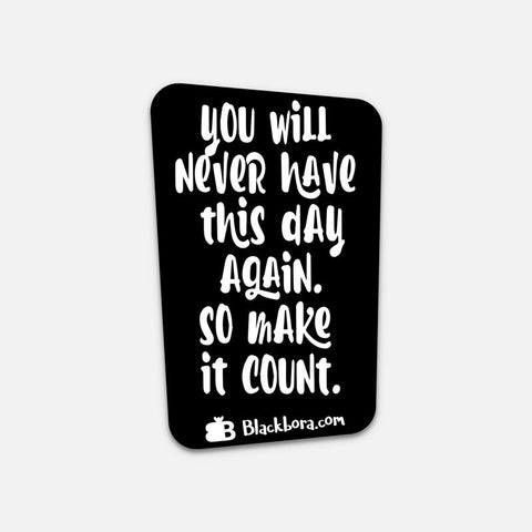 Make it Count Sticker