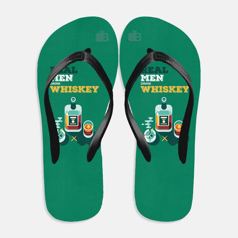 Men and Whiskey Flip Flops