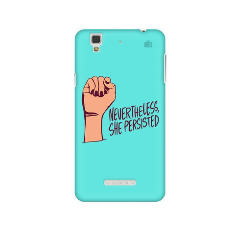 She Persisted Micromax Yu Yureka Plus Phone Cover