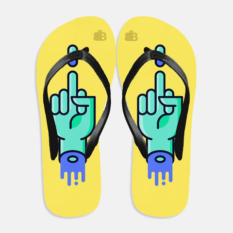 Middle Finger Flip Flops