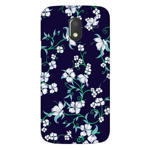 Dogwood Floral Pattern Moto E3 Power Phone Cover