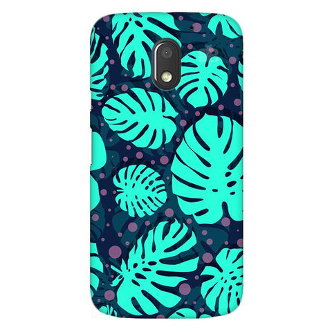 Tropical Leaves Pattern Moto E3 Power Phone Cover