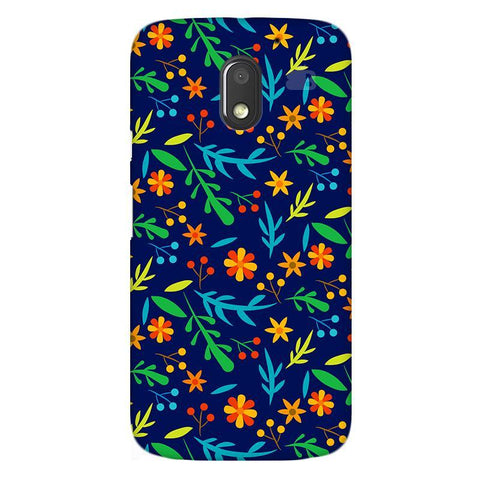 Vibrant Floral Pattern Moto E3 Power Phone Cover
