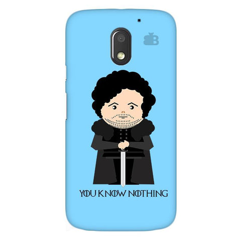 You Know Nothing Moto E3 Power Phone Cover