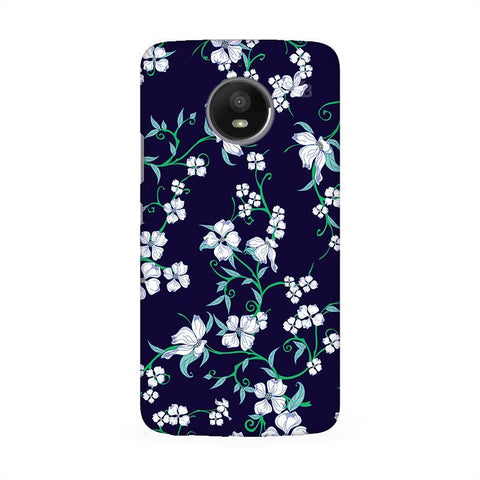 Dogwood Floral Pattern Moto E4 Phone Cover