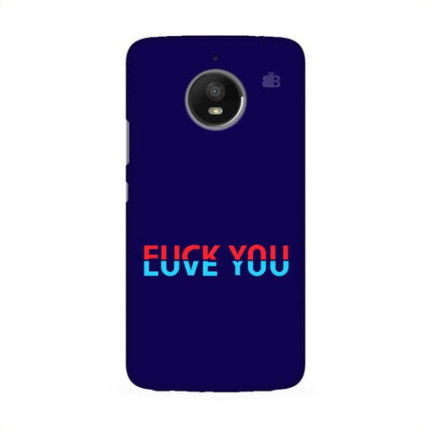 F L You Moto E4 Phone Cover