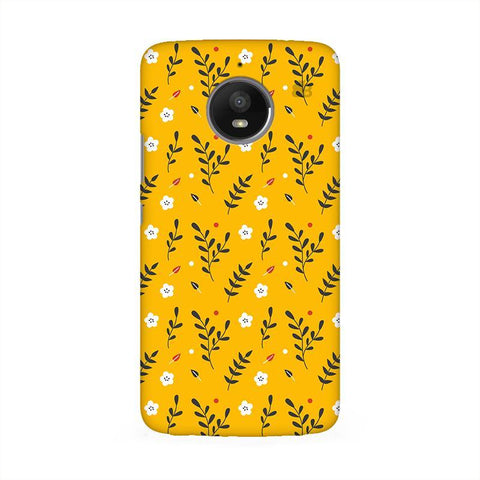 Summer Floral Pattern Moto E4 Phone Cover
