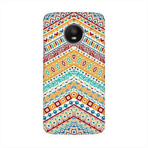 Wavy Ethnic Art Moto E4 Phone Cover