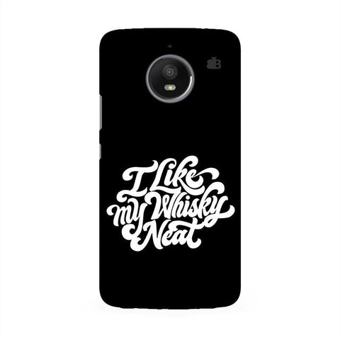 Whiskey Neat Moto E4 Phone Cover
